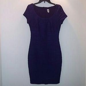 Sangria Fitted, Rushed, Eggplant size 8